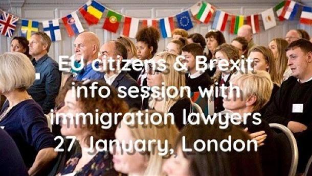 """Sesión informativa """"Cidadáns/ás da UE & Brexit"""", en Londres"""