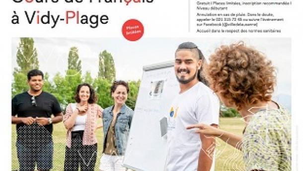 Curso de francés en la Playa de Vidy - Cours de français à Vidy-Plage 2021, en Lausanne