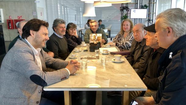 Miranda visita Mar del Plata para avanzar no programa de actividades que converterá a cidade arxentina na capital cultural da Galicia exterior da man de José Solla