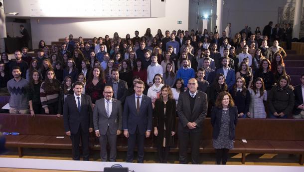 Feijóo anuncia que o próximo curso haberá case un 50% máis de prazas para que mozas e mozos do exterior cursen en Galicia un mestrado ou estudos de FP