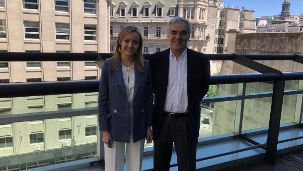 Fabiola García traslada ao embaixador de España na Arxentina a acción social da Xunta neste país