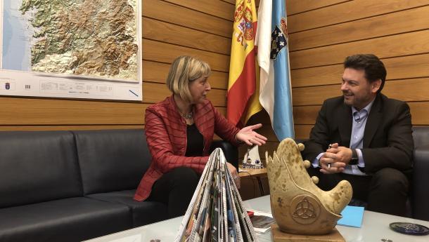 Miranda anima al Lar Gallego de Pamplona a seguir siendo el referente de la difusión de la cultura de Galicia en la capital navarra