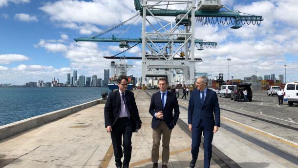 Feijóo presenta al Puerto de Miami y a las compañías de cruceros las oportunidades que Galicia ofrece en turismo y construcción naval