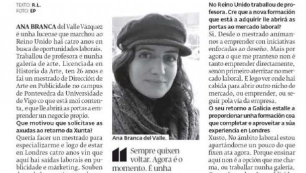 A prensa galega destaca os programas destinados ao fomento do retorno da mocidade galega do exterior