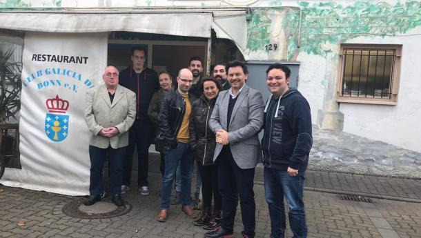 Miranda reúnese con representantes dos centros galegos de Alemaña para informar das axudas vixentes para entidades e galegas e galegos do exterior