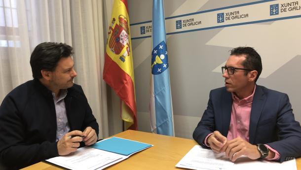 Miranda traslada ás e aos galegos de Venezuela o apoio permanente da Galicia territorial a través do presidente da Hermandad Gallega de Caracas