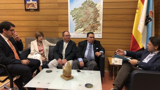 Miranda se reúne con los cónsules honorarios de Valencia, Puerto La Cruz y Barquisimeto, tres de las regiones de Venezuela con mayor presencia gallega
