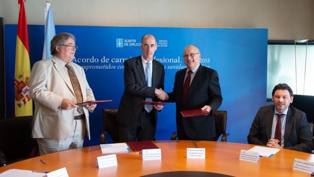 Sanidade colaborará con la Casa de Galicia de Uruguay y con la Asociación Española Primeira de Socorros Mutuos para el intercambio y mejora de la formación técnica y científica