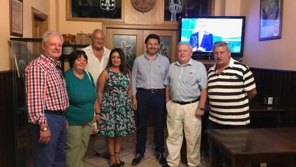 Miranda visita el Centro Galego de Castellón y lo anima a seguir difundiendo la cultura gallega