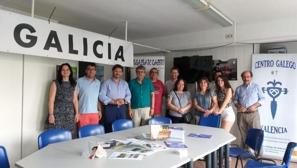 Miranda finaliza su visita a la Comunidad Valenciana en el Centro Galego de Valencia