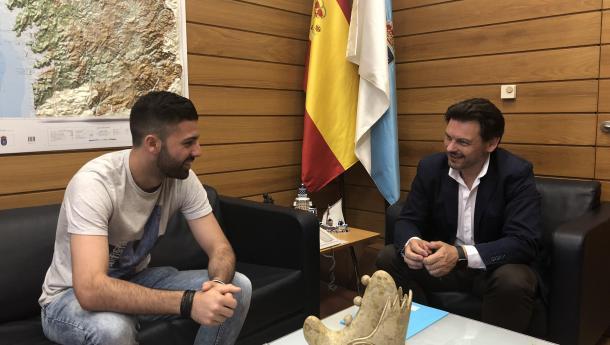 """Miranda aposta pola cooperación co Centro Galego de Cuxhaven co obxectivo de """"fomentar e promocionar"""" a cultura galega en Alemaña"""