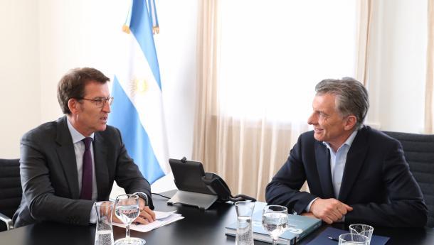Feijóo traslada ao presidente Macri a preocupación dos máis de 176.000 galegos e galegas que viven na Arxentina e das empresas galegas que invisten e xeran emprego no país ante a inestabilidade actual